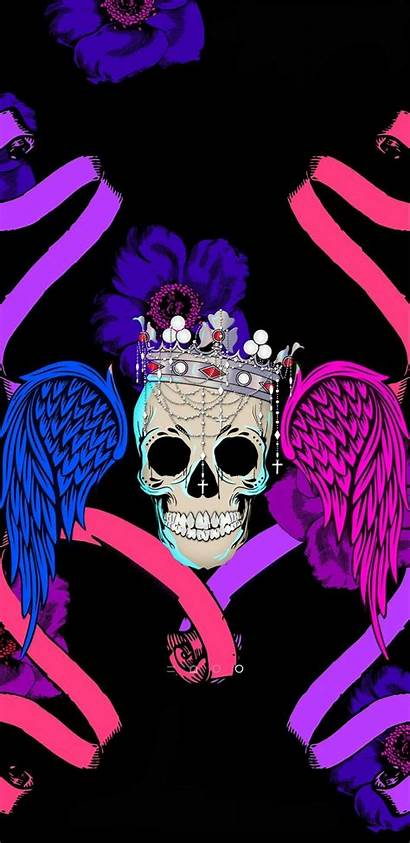 Skull Sugar King Queen Skulls Girly Wallpapers