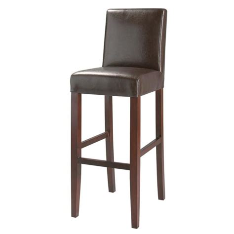 chaise cuir marron chaise de bar imitation cuir et bois marron boston