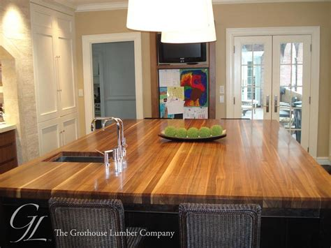 wood island tops kitchens custom walnut wood countertop in boston massachusetts