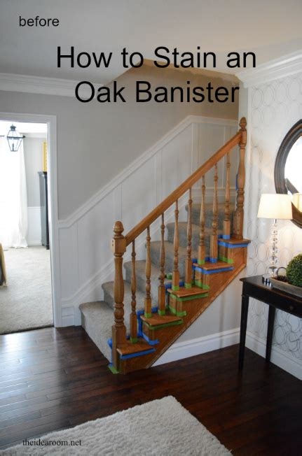 stain  oak banister  idea room