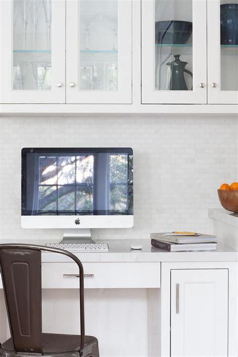 Kitchen Work Desk by Built In Kitchen Desk Mirrored Cabinets