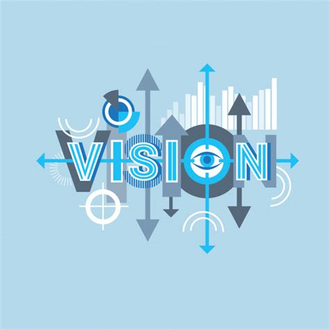 vision word creative graphic design modern business