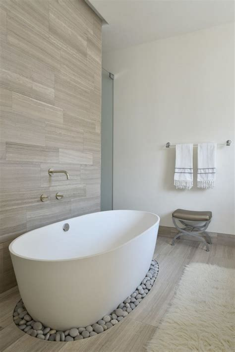 Create Your Own Spa Bathroom With Pebbles