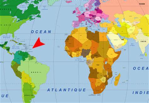 Carte Du Monde Martinique by Outre Mer