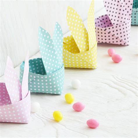 origami osterhasen korb osternfruehling origami ostern
