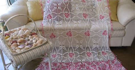Vintage Pink White Pineapple Crochet Valance Bedspread Sham Canopy 48x84 (p-2) Orange Damask Curtains Tahari Window Social Media Shower Curtain Purple Canopy Bed Liners Sizes Amazon Panel Red Grey And Black 90 Sheer