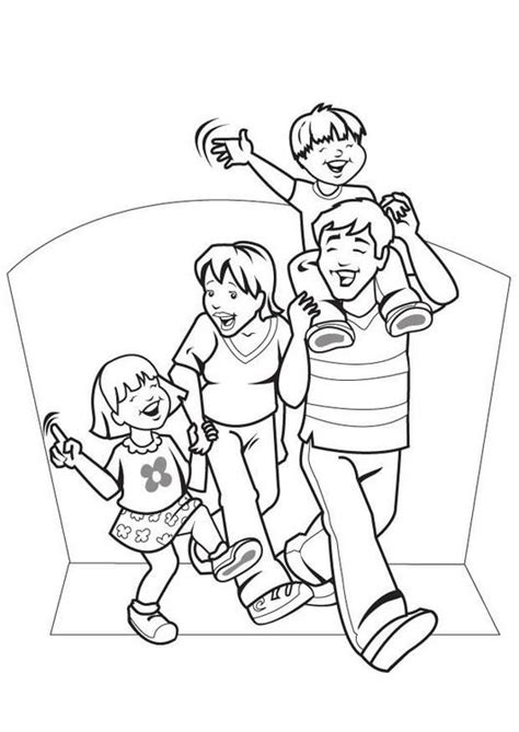 family coloring page noor long division family