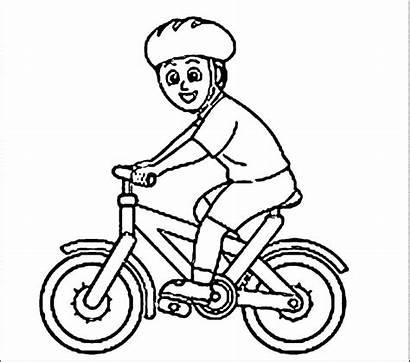 Sepeda Gambar Mewarnai Naik Anak Coloring Bicycle