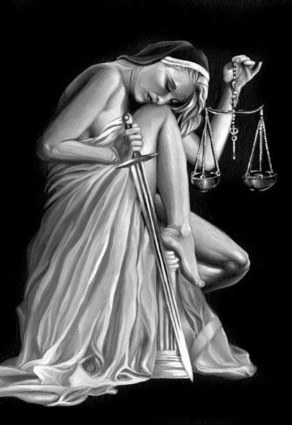 I redesigned Lady Justice, creating a more somber, comtemplative yet Vargas-like representation