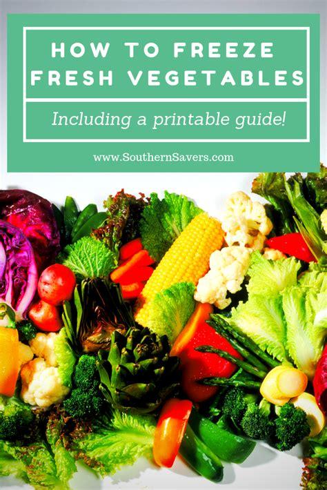 freeze fresh vegetables southern savers