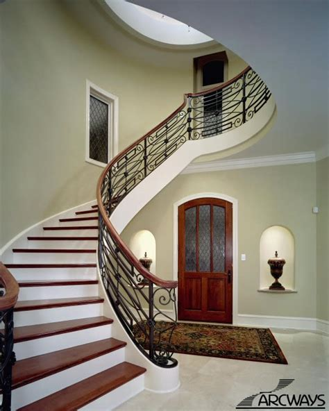 Round Staircase Design by Curved Stairs Curved Staircase Circular Staircase