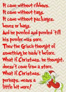 How the Grinch Stole Christmas Quote Printable