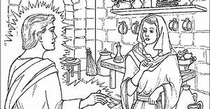 Angel Appears To Mary Coloring Page Annunciation