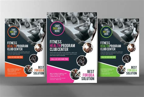 fitness gym sports business flyer flyer templates
