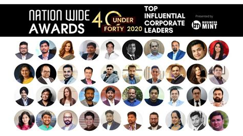 Nation Wide Awards 40 under 40 – TOP INFLUENTIAL CORPORATE ...