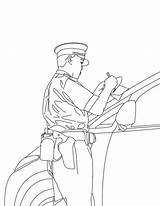 Coloring Pages Policeman Printable sketch template