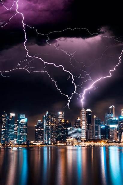 Lightning Nature Incredible Sky Lighting Unsplash Beauty