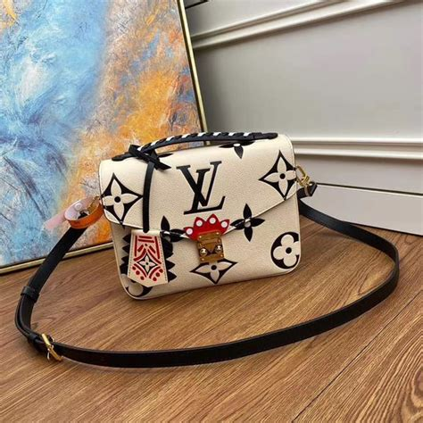 louis vuitton original lv crafty pochette metis  white
