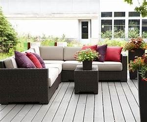Salon De Jardin Terrasse : la terrasse de jardin 18 conseils pour la conception parfaite ~ Teatrodelosmanantiales.com Idées de Décoration