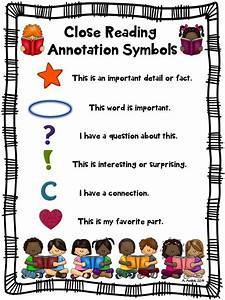 Close Reading Symbols Poster Chart  Any Topic  St  Patrick U0026 39 S Day  Spring