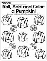 Halloween Dice Roll Math Pumpkin Preschool Fall Kindergarten Teaching Grade Creative Activities Moffattgirls Pre sketch template