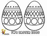 Easter Coloring Egg Eggs Colouring Fancy Basket Yescoloring Boys sketch template