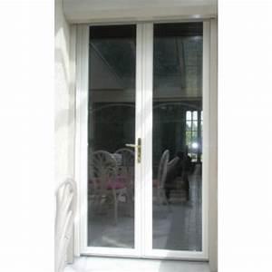 Porte fenetre pvc gamme confort a 2 vantaux ouvrant a la for Porte fenetre double vitrage pvc