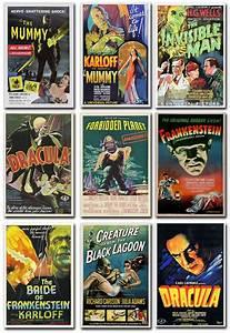 Vintage Old Horror Movie Poster Print  Frankenstein
