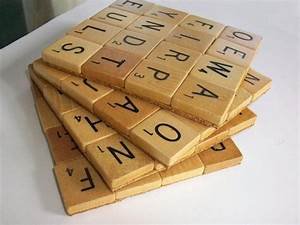 scrabble letter coasters cool diy ideas pinterest With letter coasters