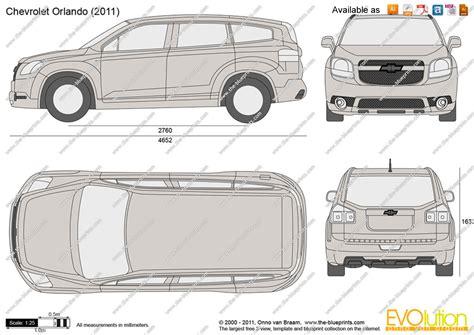Chevrolet Orlando Vector Drawing