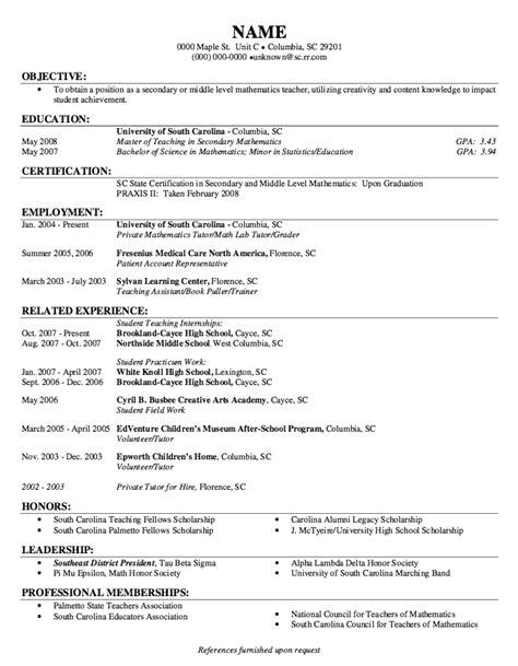 exle of student practicum work resume http