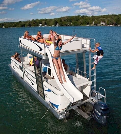 Deck Pontoon With Slide by Research 2011 Avalon Pontoons Windjammer Funship 24 On