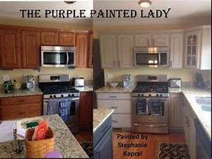 kitchen cabinet stephanie kapral my customer the purple With what kind of paint to use on kitchen cabinets for facebook stickers store