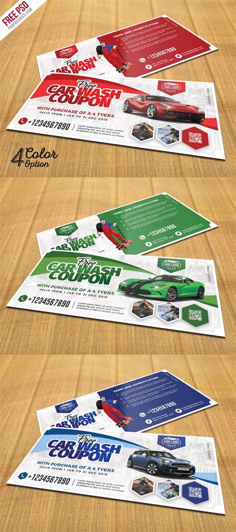 Car Wash Coupon Template by Car Wash Coupon Template Psd Set Psdfreebies