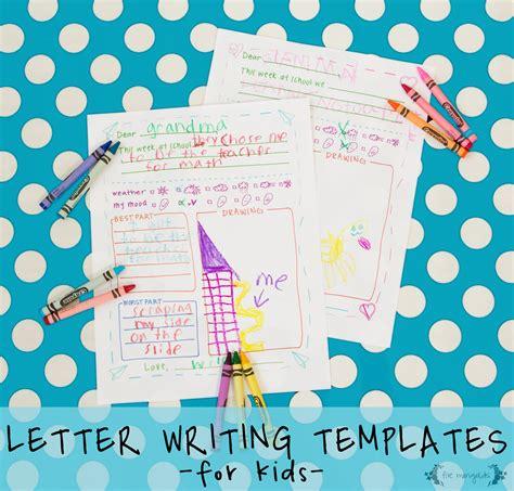 printable letter writing templates  grandma