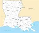 Louisiana County Map - Mapsof.Net