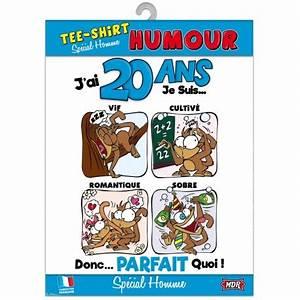 Cadeau Homme 20 Ans : tee shirt humour 20 ans homme ~ Melissatoandfro.com Idées de Décoration