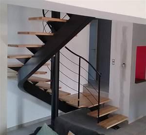 Escalier 3 4 Tournant : escalier 2 4 tournant haut limon central atelier des ~ Dailycaller-alerts.com Idées de Décoration
