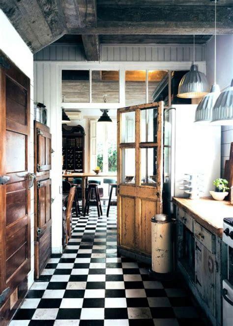 cuisine en et blanc vous cherchez des idées pour un carrelage noir et blanc