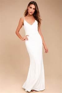 sexy white maxi dress mermaid maxi dress bodycon maxi With robe longue noire simple