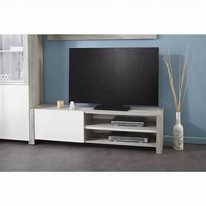 Meuble Tele Gris : meuble tele design gris id es de d coration int rieure french decor ~ Teatrodelosmanantiales.com Idées de Décoration