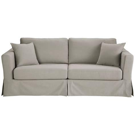 canapé convertible confort canapé convertible 3 places en coton gris clair royan
