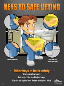 Safe Back Lifting Safety Topic