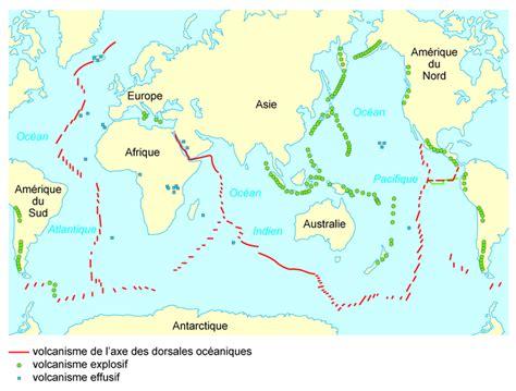 Carte Des Volcans Actifs Dans Le Monde by Volcans Carte Mondiale Voyages Cartes