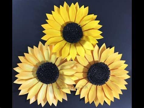 diy     paper sunflower template