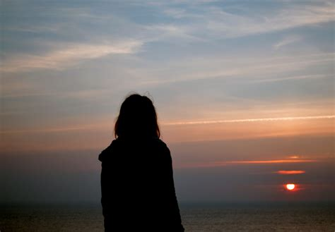images silhouette girl sun photographer sunlight summer seaside shadow long hair