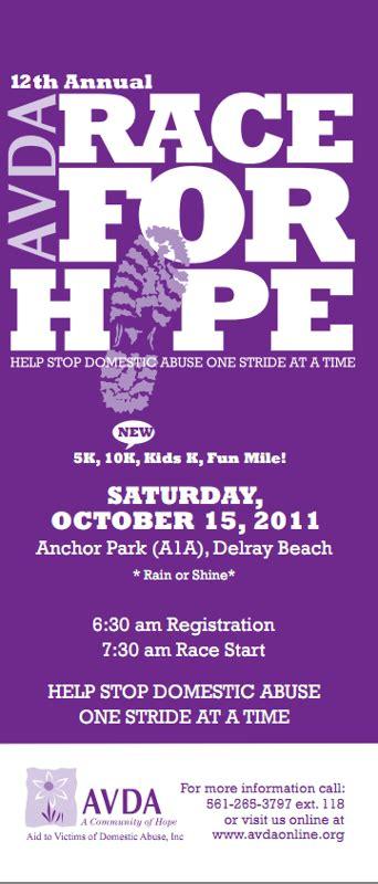 avdas  annual race   hope  delray beach