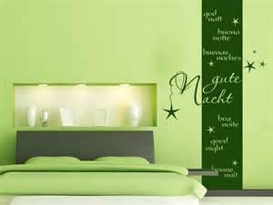 wanddeko schlafzimmer wandbanner gute nacht fürs schlafzimmer wandtattoo
