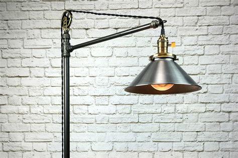 Cfl Warren Pulley Metal Task Floor Lamp, Rustic Iron