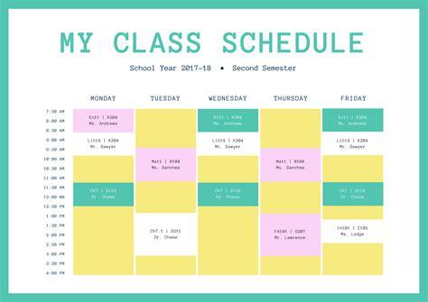 membuat jadwal kelas   contoh desain unik canva